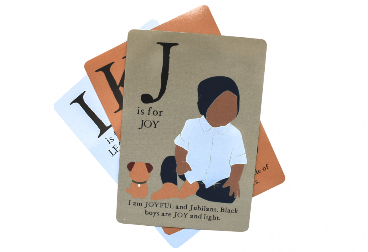 J is for Joy ABC Affirmation flash card